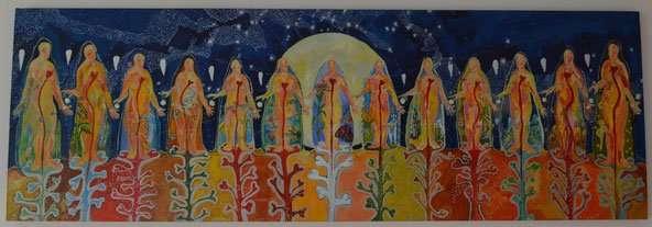 Ilustración Las trece Abuelas de Nati Estébanez
