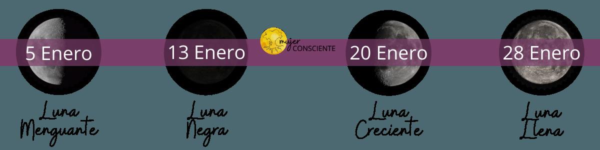 Lunario Enero 2021 de mujerconsciente.org