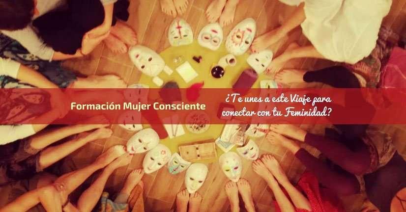 Máscaras círculo de mujeres Formación Mujer Consciente